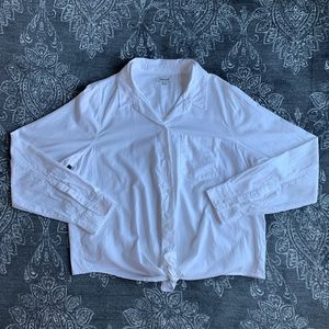 Madewell White Tie Front Button Down LS Shirt XL